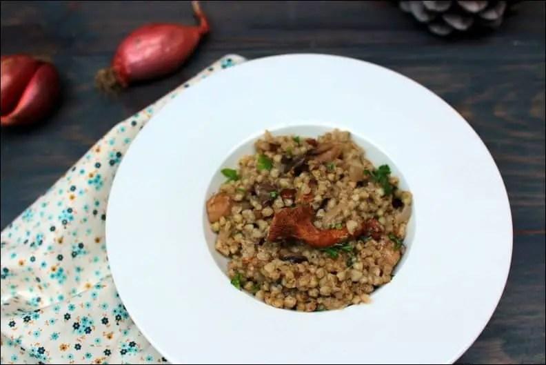 risotto sans riz aux champignons