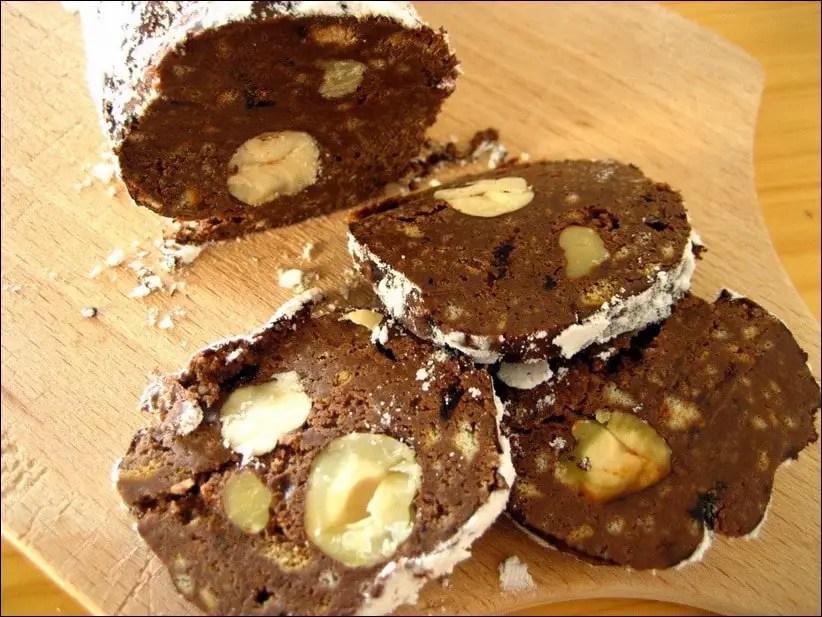 saucisson nutella biscuits noisettes