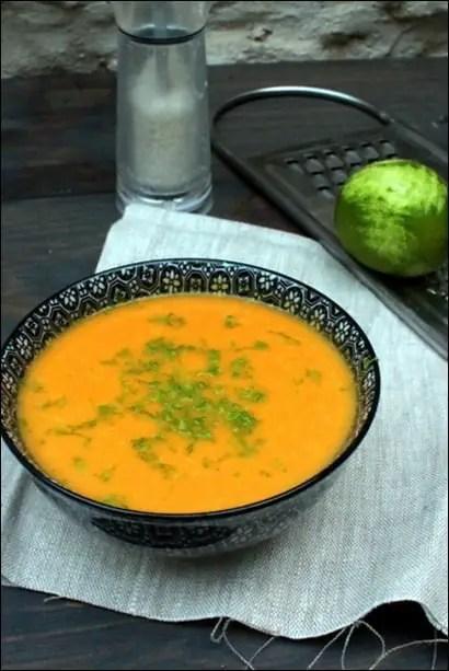 soupe butternut au lait de coco