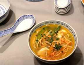 soupe chinoise gourmande aux crevettes