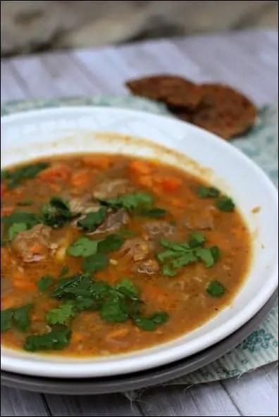 soupe épicée aux lentilles