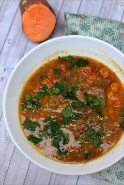 soupe épicée à la patate douce