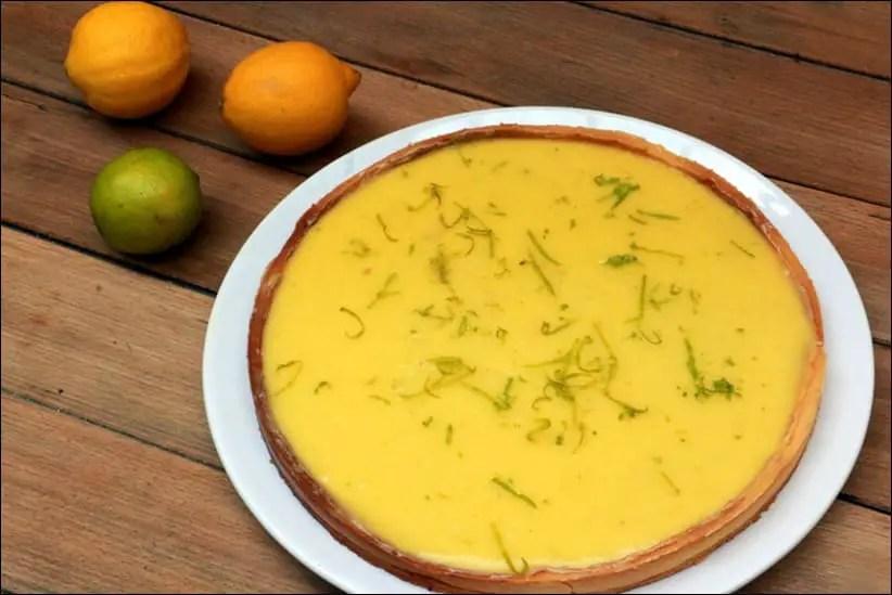 tarte citrons vert jaune