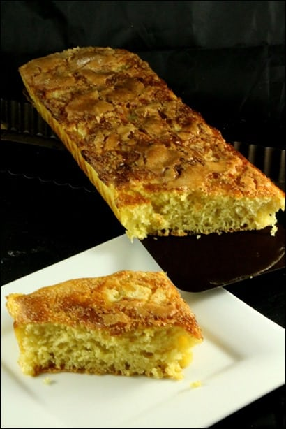 tarte au sucre avec creme fraiche