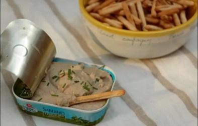 rillettes de sardines au citron et ciboulette