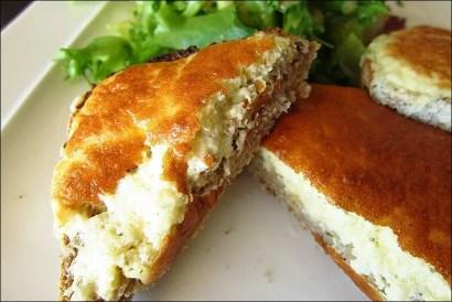tartines et cream cheese et herbes
