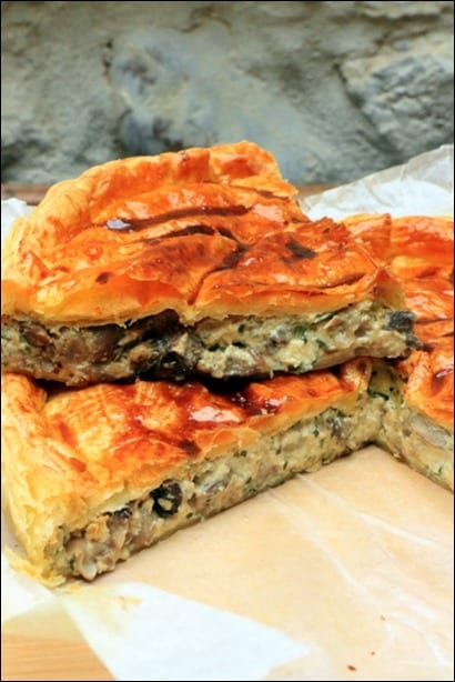 tourte champignons fromage