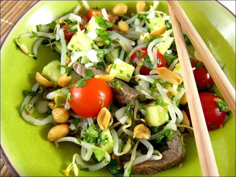 salade boeuf thai coriandre