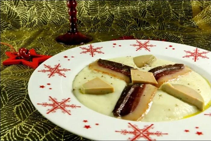 velouté topinambours foie gras