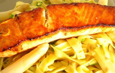 saumon poêlé aux asperges