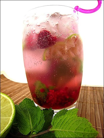 mojito framboise et menthe