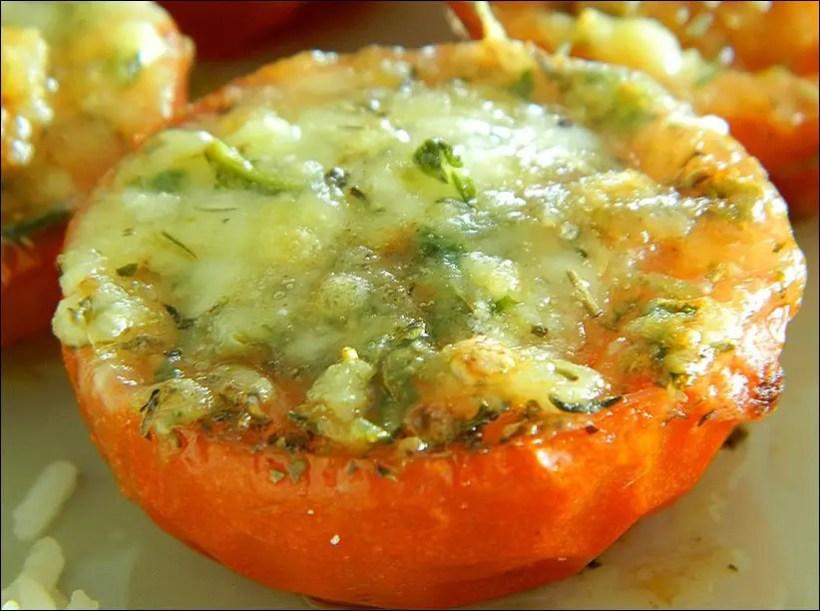 tomates mozza gratinées