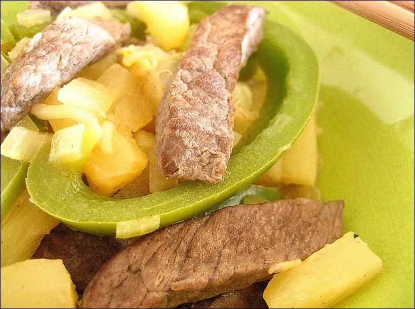 boeuf ananas poivron