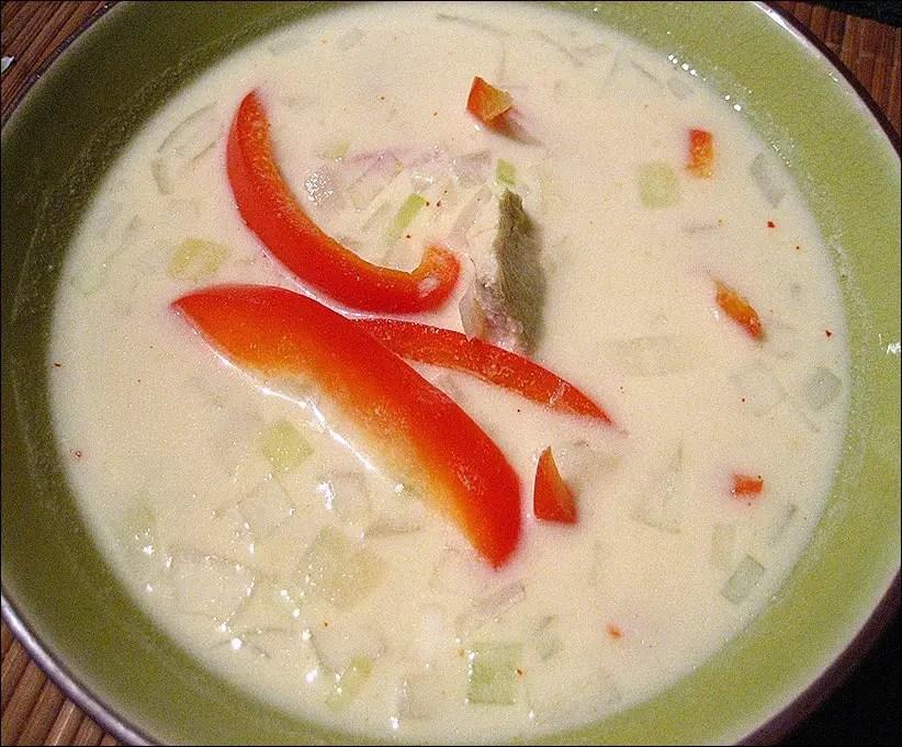 soupe indonésienne poulet poivron lait de coco