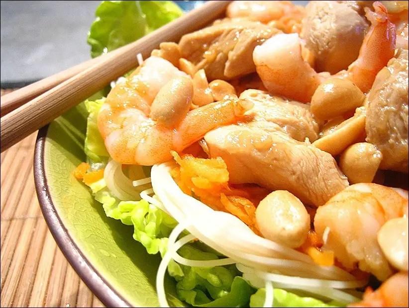 recette bo bun crevette et poulet