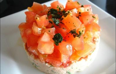 tartare de tomates au thon