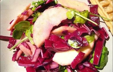 salade de pomme et chou rouge