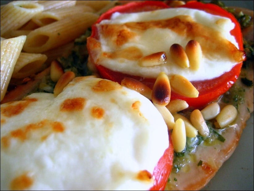escalopes dinde pesto mozzarella