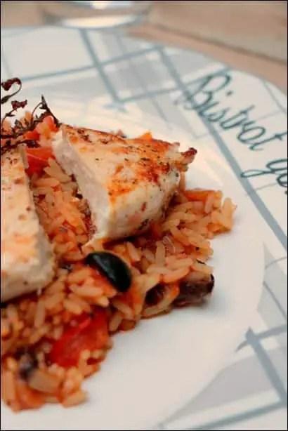poulet riz tomate