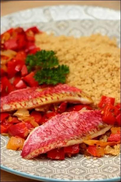 couscous de rouget aux poivrons