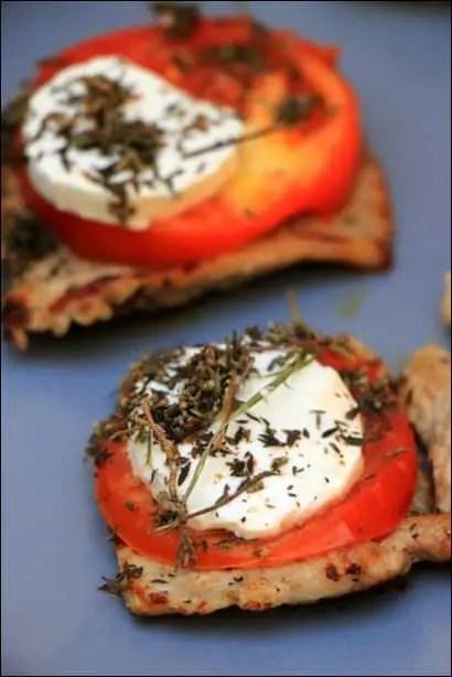 veau tomate et chevre