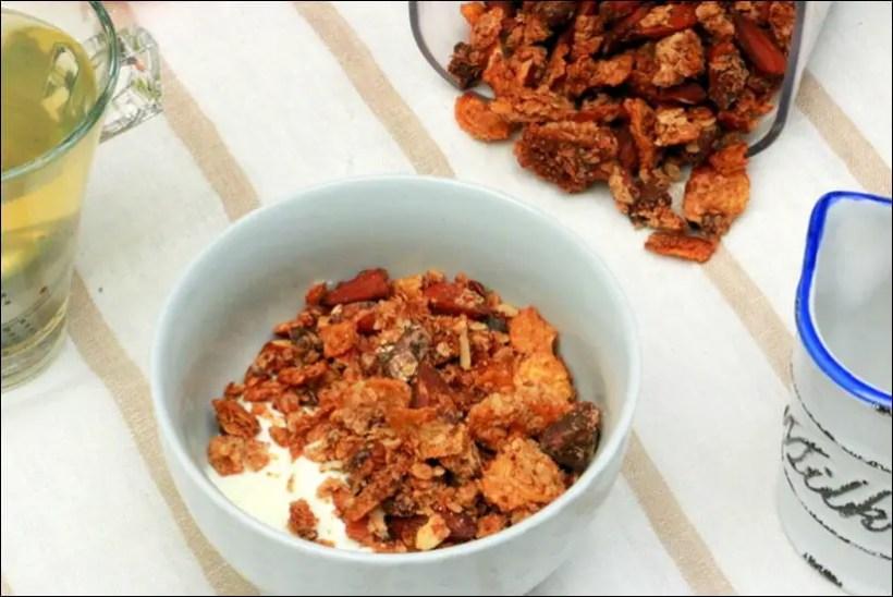 granola amandes avoine coco
