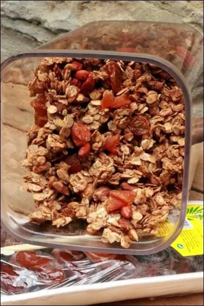 granola amande noisette