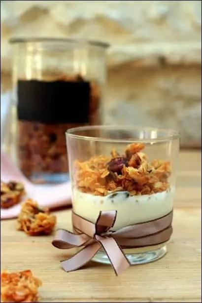 granola noisettes vanille