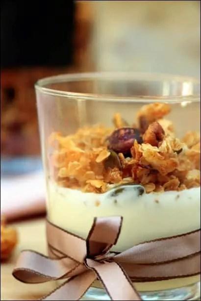 granola noisettes pecan vanille