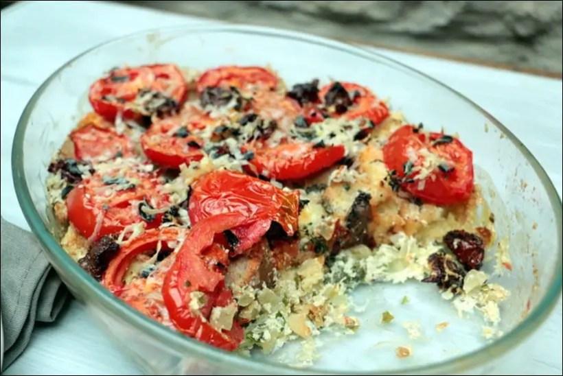 gratin tomate pain ricotta