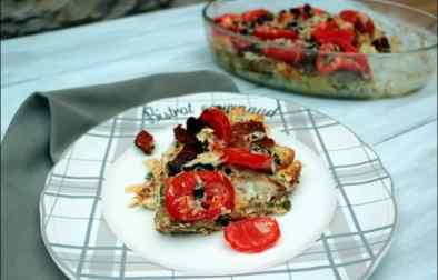 gratin de pain perdu aux tomates basilic origan