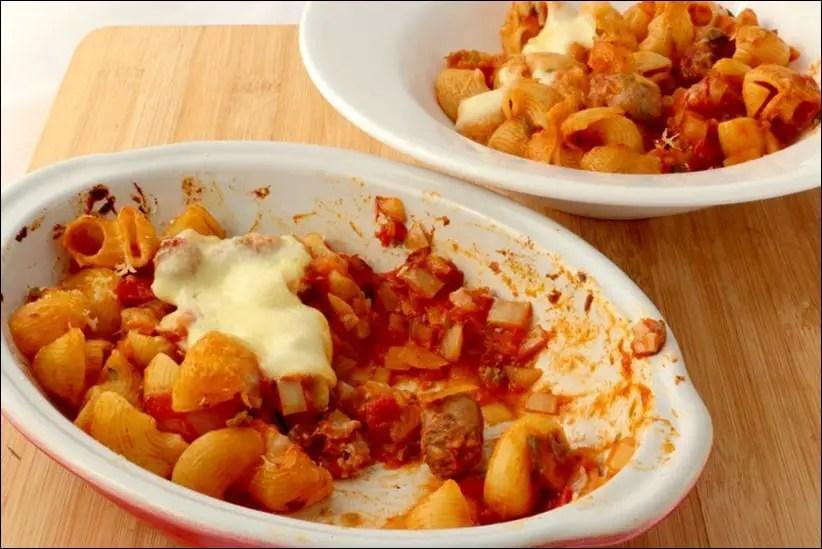 Gratin-pates-tomate-chipolatas (5)