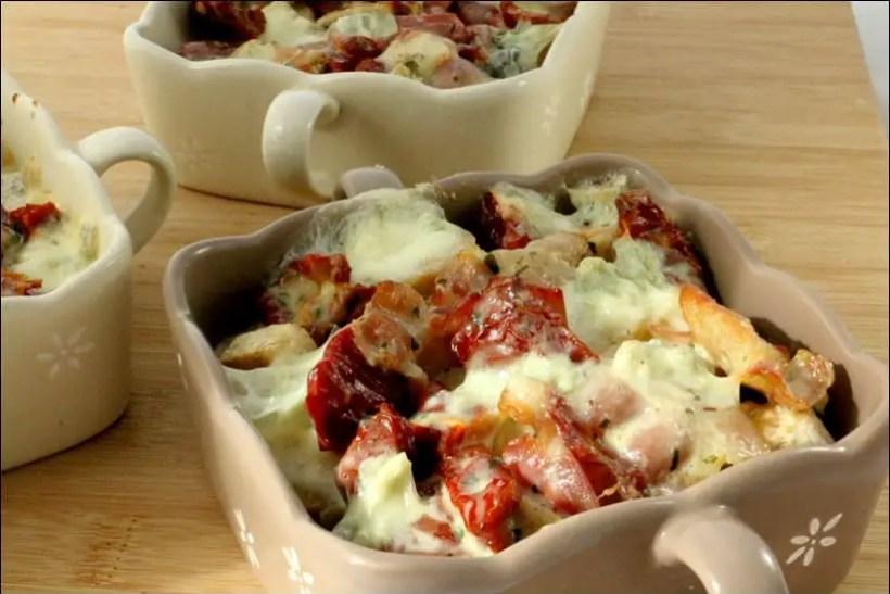 quenelles volailles tomate gorgonzola
