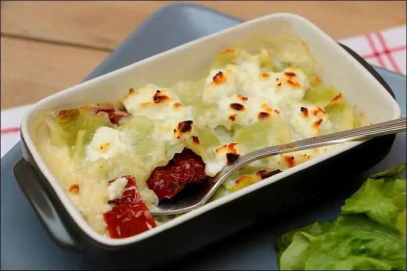 gratin ravioles végétarien veggie