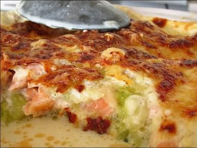gratin ravioles courgettes saumon