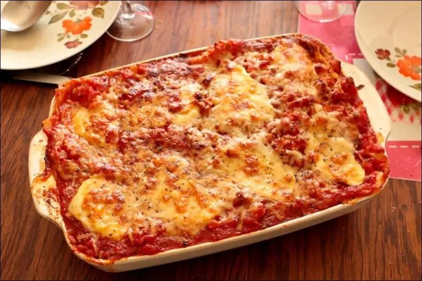 lasagne saumon tomate mozzarella