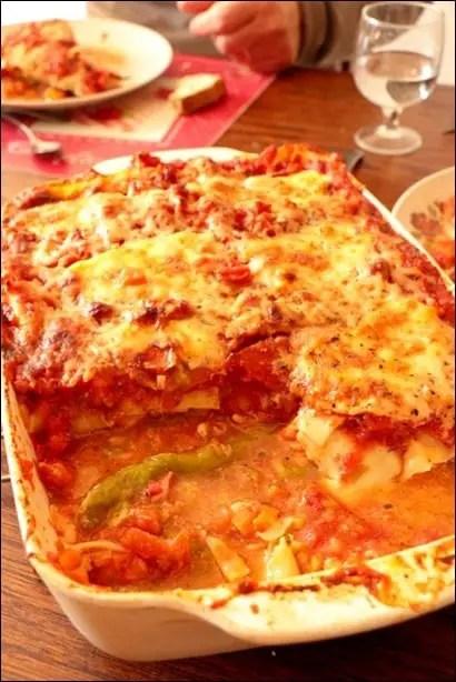 lasagne saumon tomate oignon