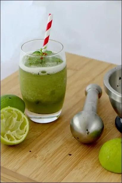 recette citronnade menthe citron vert
