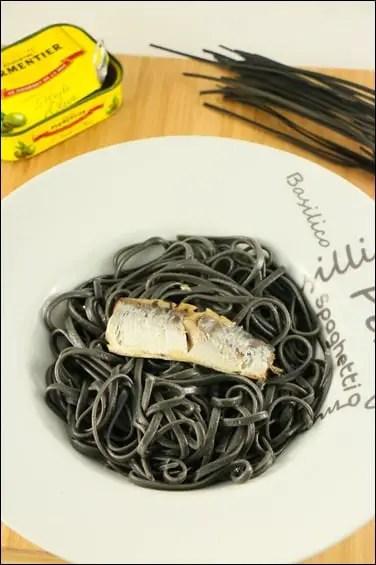pates encre de seiche boite sardines