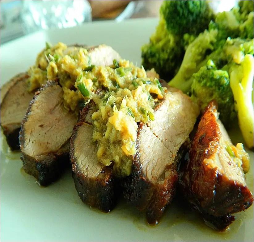 magret grillé gingembre wasabi