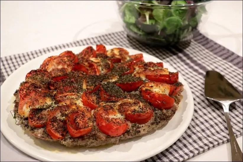 pizza sans pate boeuf haché