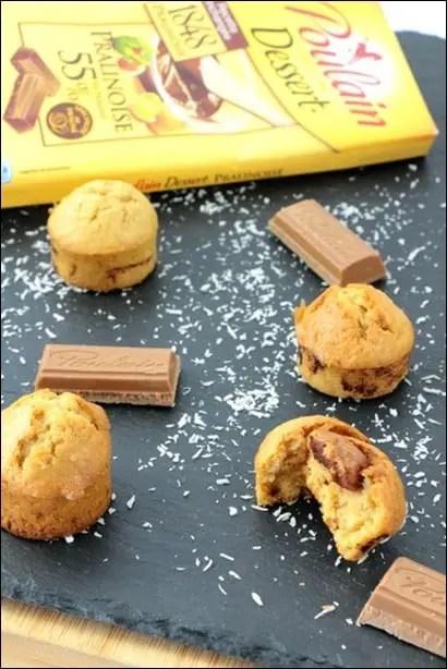 muffin coco pralinoise