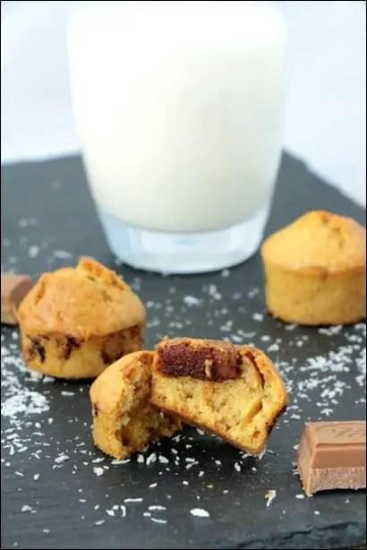 muffins noix de coco praline