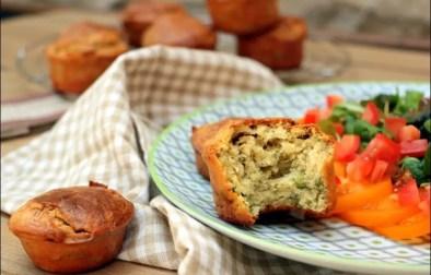 muffins aux petits pois chèvre frais citron et menthe