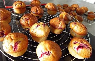 muffins au citron framboises et pistaches