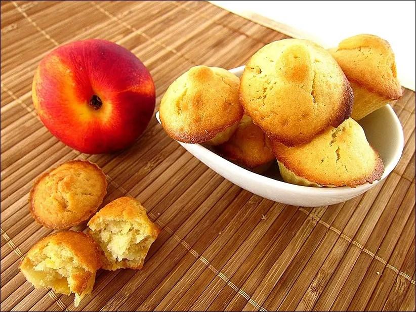 muffins pêches fraiches