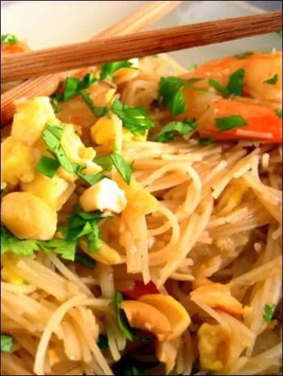 recette de pad thai crevette