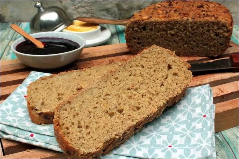 pain moelleux au riz amarante et sarrasin sans gluten