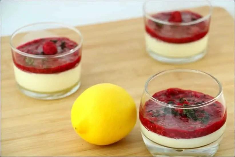 recette panna cotta citron framboise
