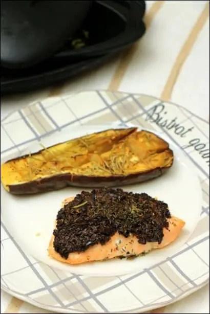 saumon en croute d'olive
